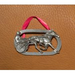 Pewter Harness Horse Ornament