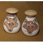 Hand Painted Fox Salt n Pepper Shakers