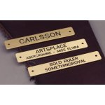 "Engraved Brass 3/4"" Name Plate"