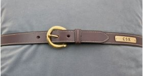 Dark Brown White Stitched Belt