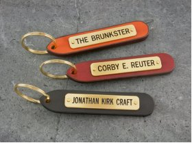 Small Standard Leather Keytag