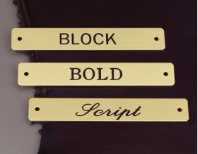 """3/4"""" Nameplate fonts"""