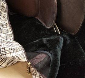 Soft, Black Fake Fur Lining