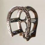 Chrome Horseshoe Bridle Rack