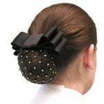 Diamond Netted Hair Bow