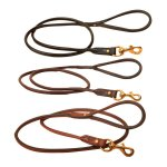 4 ft Rolled Leather Leash