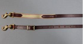 Elastic/Leather Sidechecks