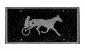 Harness Horse Car Bumper Plate