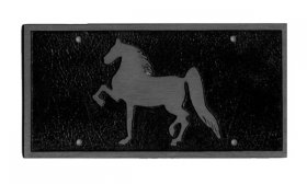 Gaited Horse Car Bumper Plate