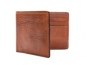 Small Bi-Fold Wallet in Amber