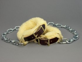 Pawing Chains with Fleece Covers
