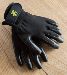 Back of glove with secure velcro