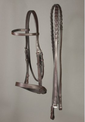 Gatsby Flat Nose Snaffle Bridle